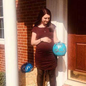 GAP Maroon Red Midi Maternity Dress